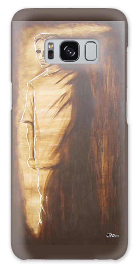 Brown Galaxy S8 Case featuring the painting 18 by Jeffrey Oleniacz