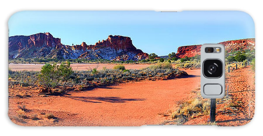 Rainbow Valley Outback Landscape Central Australia Australian Northern Territory Panorama Panoramic Clay Pan Dry Arid Galaxy S8 Case featuring the photograph Rainbow Valley by Bill Robinson