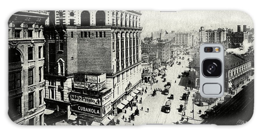 New York City Galaxy S8 Case featuring the painting 1898 Herald Square New York City by Historic Image