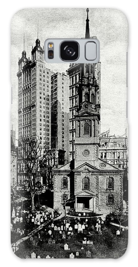 New York City Galaxy S8 Case featuring the painting 1900 St. Paul's Chapel New York City by Historic Image