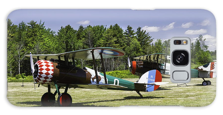 1917 Nieuport 28c.1 Galaxy S8 Case featuring the photograph 1917 Nieuport 28c.1 Fighter World War One Photo by Keith Webber Jr