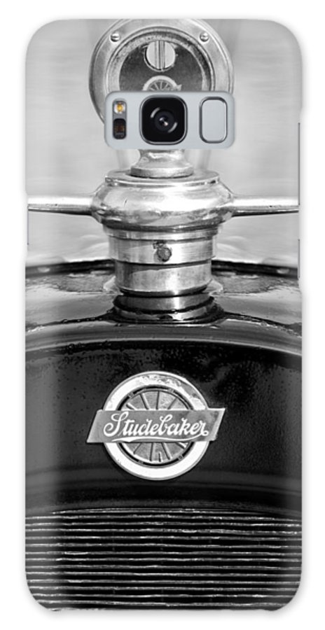 1922 Studebaker Touring Galaxy S8 Case featuring the photograph 1922 Studebaker Touring Hood Ornament 3 by Jill Reger