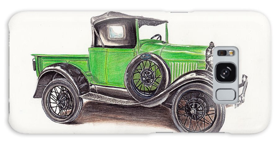 Truck Galaxy Case featuring the drawing 1926 Ford Truck 1926 by Heather Stinnett