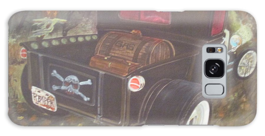 1930 Ford Pick Up Truck Galaxy S8 Case featuring the painting 1930 Ford Pick Up Truck/reaper by Russell Boothe