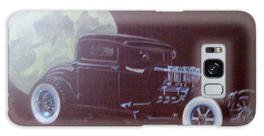 1932 Ford Coupe Galaxy S8 Case featuring the painting 1932 Ford Coupe-harvest Moon Coupe by Russell Boothe