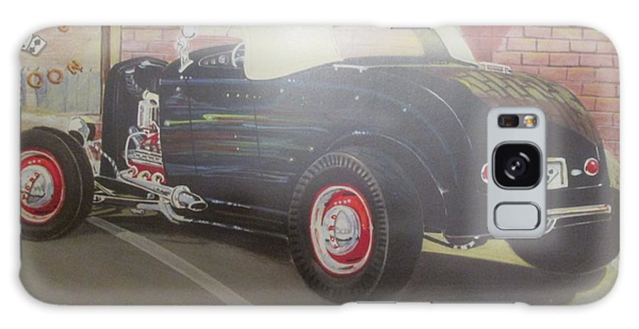 1932 Ford At Deuce's Saloon Galaxy S8 Case featuring the painting 1932 Ford Roaster At Deuce's Saloon by Russell Boothe