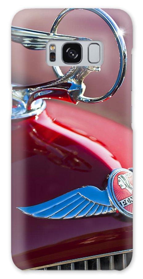 1933 Pontiac Galaxy S8 Case featuring the photograph 1933 Pontiac Hood Ornament 3 by Jill Reger