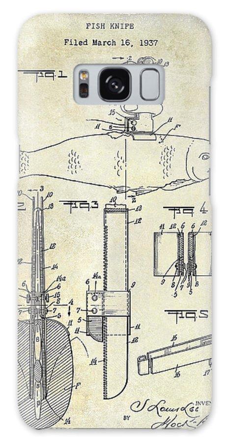 Fishing Basket Galaxy S8 Case featuring the photograph 1937 Fishing Knife Patent by Jon Neidert