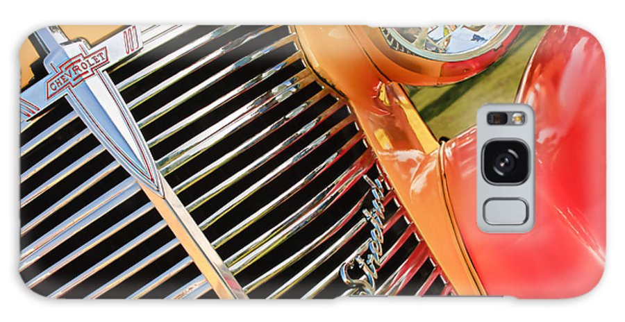 1938 Chevrolet Coupe Grille Emblems Galaxy S8 Case featuring the photograph 1938 Chevrolet Coupe Grille Emblems by Jill Reger