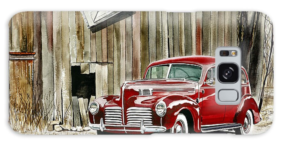 Hudson Galaxy S8 Case featuring the painting 1940 Hudson And Barn by Rick Mock