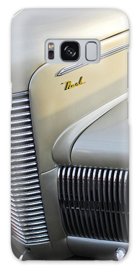 Car Galaxy S8 Case featuring the photograph 1940 Nash Grille by Jill Reger
