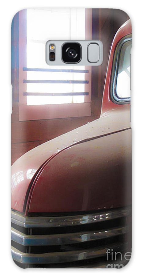 Red Galaxy S8 Case featuring the photograph 1940s Era Red Chevrolet Truck by Jo Ann Tomaselli