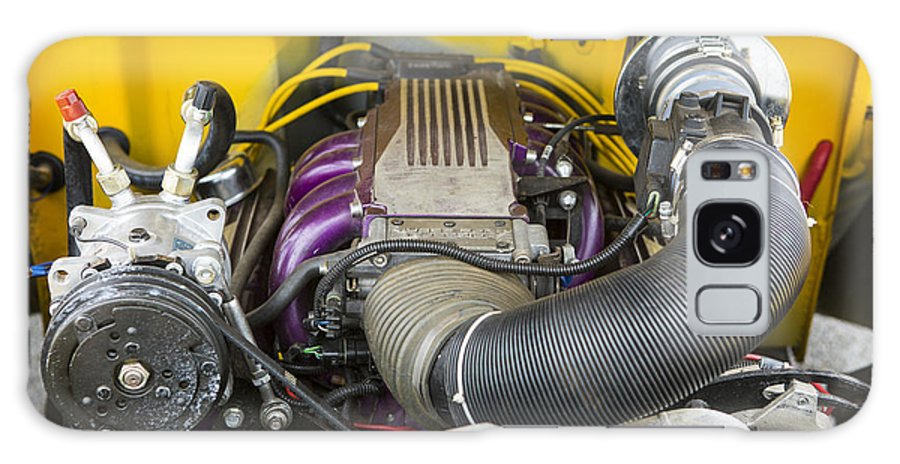 1941 Ford Pickup Galaxy S8 Case featuring the photograph 1941 Ford Pickup Engine Motor Classic Automobile In Color 3082.02 by M K Miller