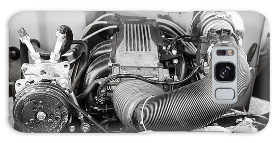 1941 Ford Pickup Galaxy S8 Case featuring the photograph 1941 Ford Pickup Engine Motor Classic Automobile In Sepia 3082.01 by M K Miller