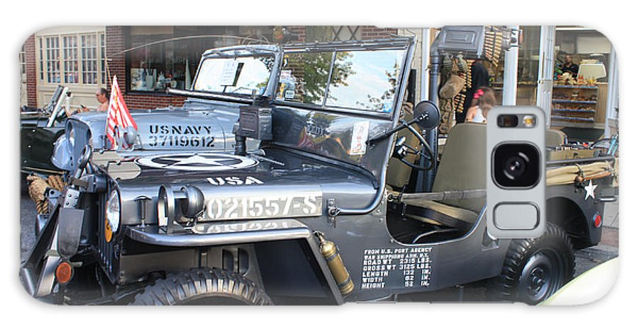 1947 Us Army Jeep Side View Galaxy S8 Case featuring the photograph 1947 Us Army Jeep Side View by John Telfer