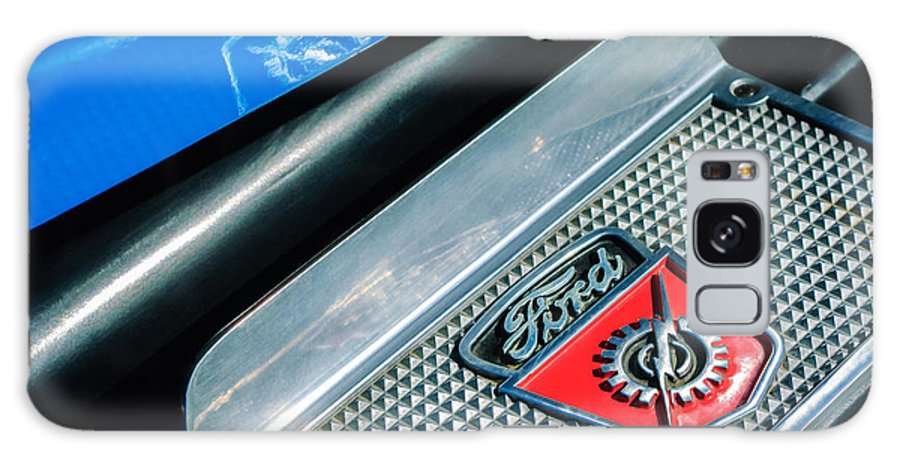 1949 Ford F-1 Pickup Truck Step Plate Emblem Galaxy S8 Case featuring the photograph 1949 Ford F-1 Pickup Truck Step Plate Emblem -0043c by Jill Reger