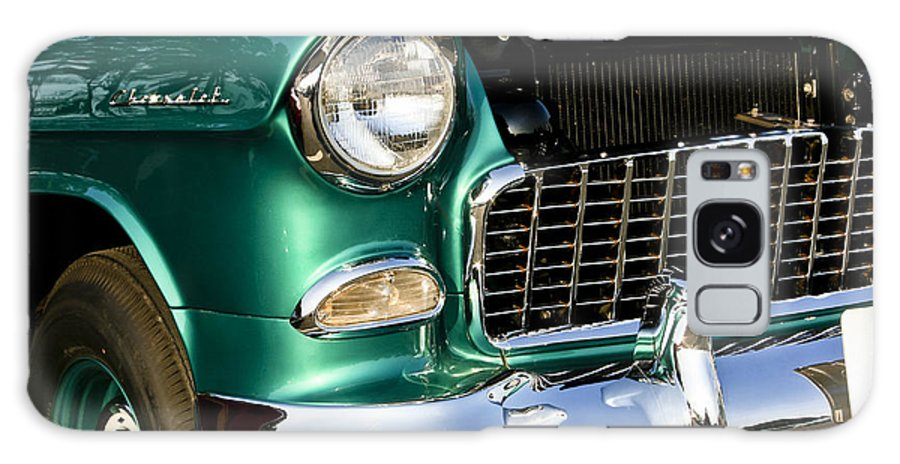Transportation Galaxy S8 Case featuring the photograph 1955 Chevy Bel Air Grill by Dennis Coates