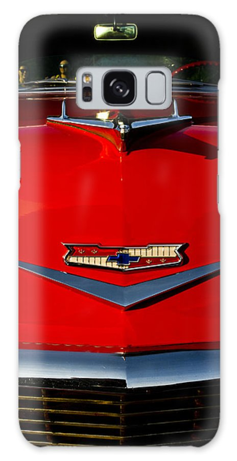 Transportation Galaxy S8 Case featuring the photograph 1955 Chevy Bel Air Hood Ornament by Dennis Coates