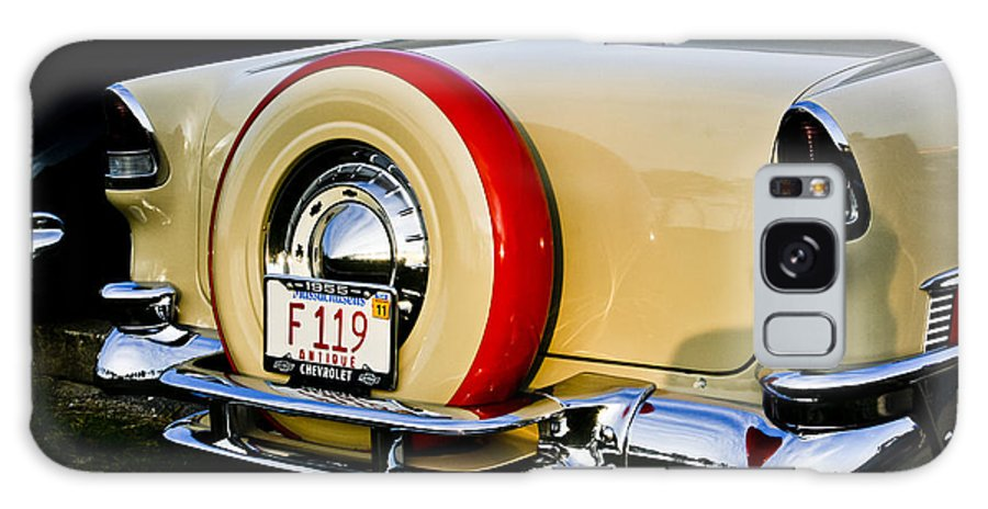 Transportation Galaxy S8 Case featuring the photograph 1955 Chevy Bel Air Rear by Dennis Coates