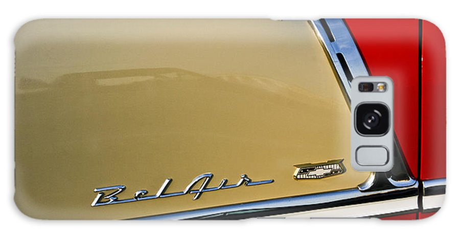 Transportation Galaxy S8 Case featuring the photograph 1955 Chevy Bel Air Side Panel by Dennis Coates