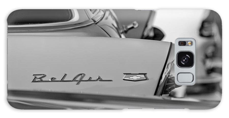 1956 Chevrolet Belair Nomad Rear End Emblem Galaxy S8 Case featuring the photograph 1956 Chevrolet Belair Nomad Rear End Emblem by Jill Reger