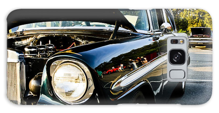 Transportation Galaxy S8 Case featuring the photograph 1956 Chevy Bel Air Down The Side by Dennis Coates