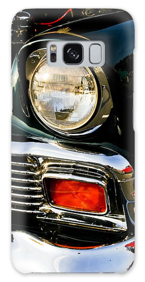 Transportation Galaxy S8 Case featuring the photograph 1956 Chevy Bel Air Head Light by Dennis Coates