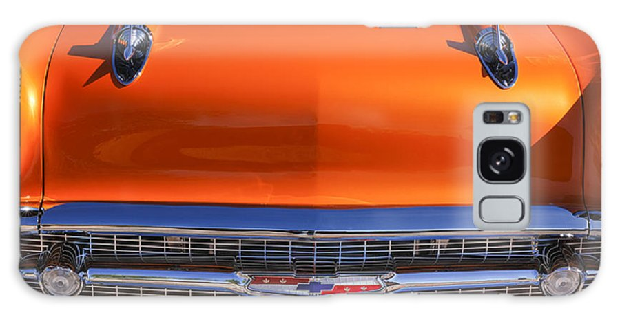 1957 Chevrolet Bel Air Hood Ornament Galaxy S8 Case featuring the photograph 1957 Chevrolet Belair Hood Ornament - Grille Emblem -055c by Jill Reger