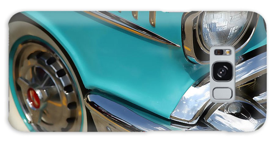 Teal Galaxy S8 Case featuring the photograph 1957 Chevy Bel Air by Gordon Dean II