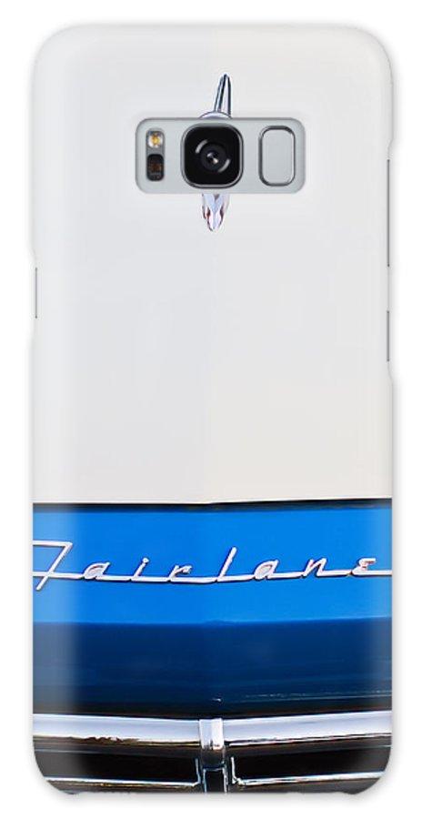 1957 Ford Fairlane Hood Ornament Galaxy S8 Case featuring the photograph 1957 Ford Fairlane Hood Ornament by Jill Reger