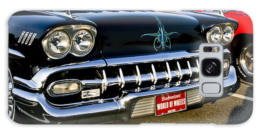 Transportation Galaxy S8 Case featuring the photograph 1958 Chevy Impala Front End Grill Work by Dennis Coates