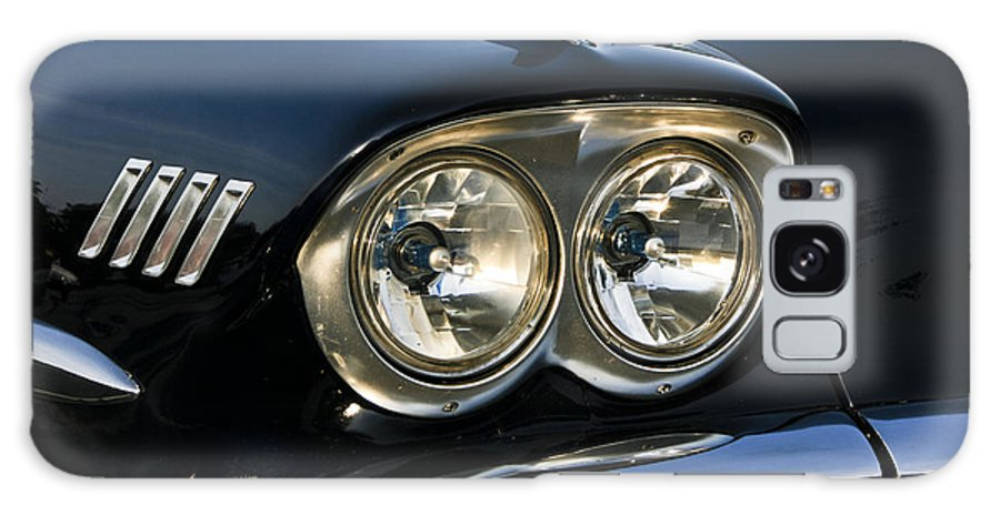 Transportation Galaxy S8 Case featuring the photograph 1958 Chevy Impala Headlights by Dennis Coates