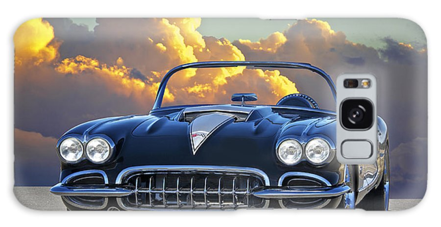 Auto Galaxy S8 Case featuring the photograph 1958 Corvette In Clouds by Dave Koontz