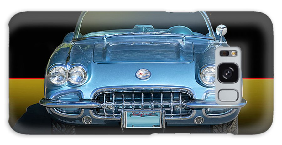 Auto Galaxy S8 Case featuring the photograph 1959 Corvette Front View by Dave Koontz