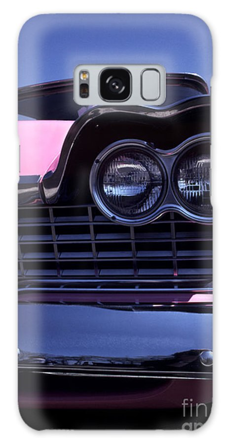 Plymouth Galaxy S8 Case featuring the photograph 1959 Pink Plymouth Fury With Balloon by Anna Lisa Yoder