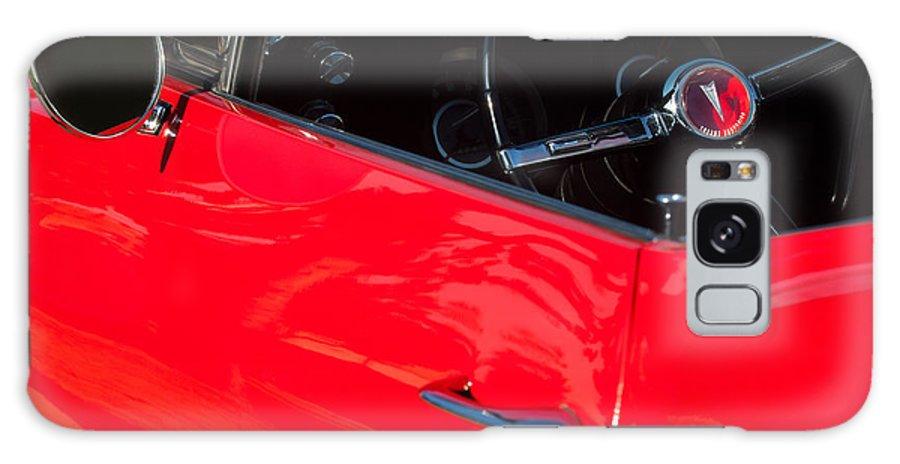 1967 Pontiac Firebird Steering Wheel Emblem Galaxy S8 Case featuring the photograph 1967 Pontiac Firebird Steering Wheel Emblem by Jill Reger