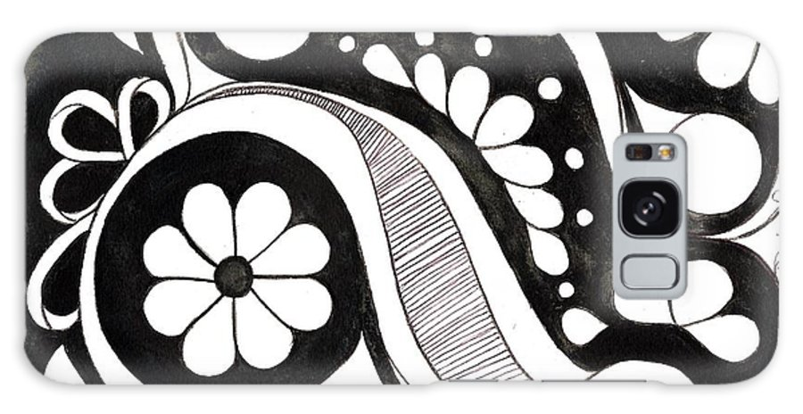 Design In Black And White. Galaxy S8 Case featuring the drawing 1968 by Debralyn Skidmore