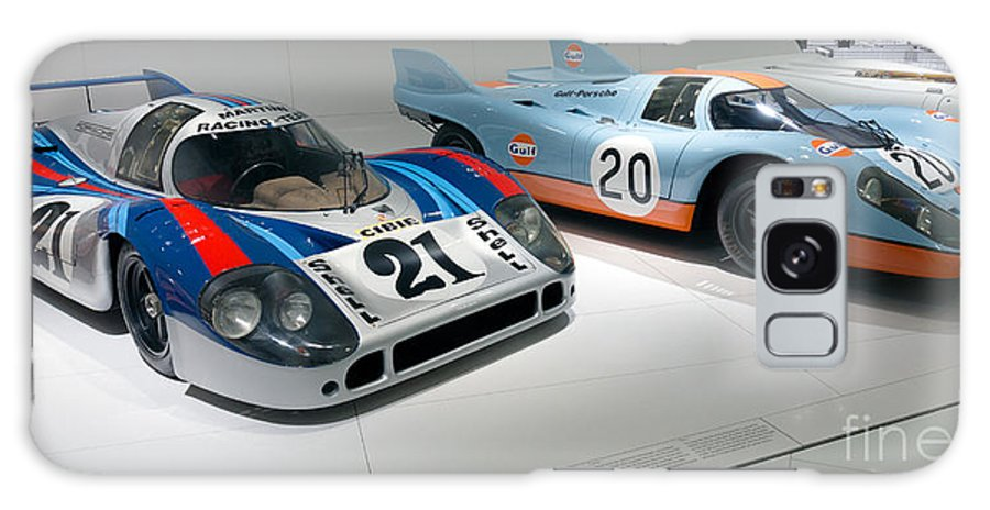 3d Galaxy S8 Case featuring the photograph 1972 Porsche 917 Lh Coupe And 1970 Porsche 917 Kh Coupe by Paul Fearn