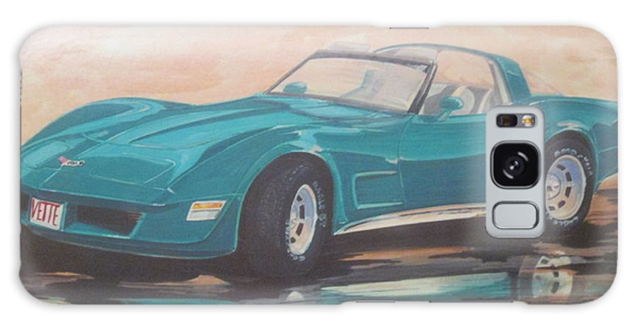 1980 Chevrolet Corvette Galaxy S8 Case featuring the painting 1980 Chevrolet Corvette/reflections by Russell Boothe