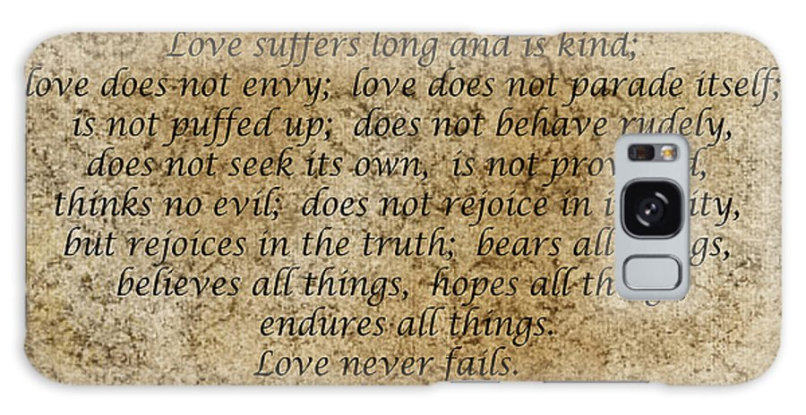 Bible Galaxy S8 Case featuring the photograph 1st Corinthians 13 Verses 4 - 7 by Barb Dalton