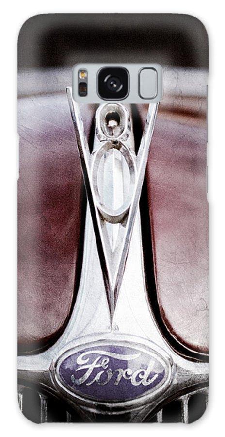 1936 Ford Phaeton V8 Hood Ornament Galaxy S8 Case featuring the photograph 1936 Ford Phaeton V8 Hood Ornament - Emblem by Jill Reger
