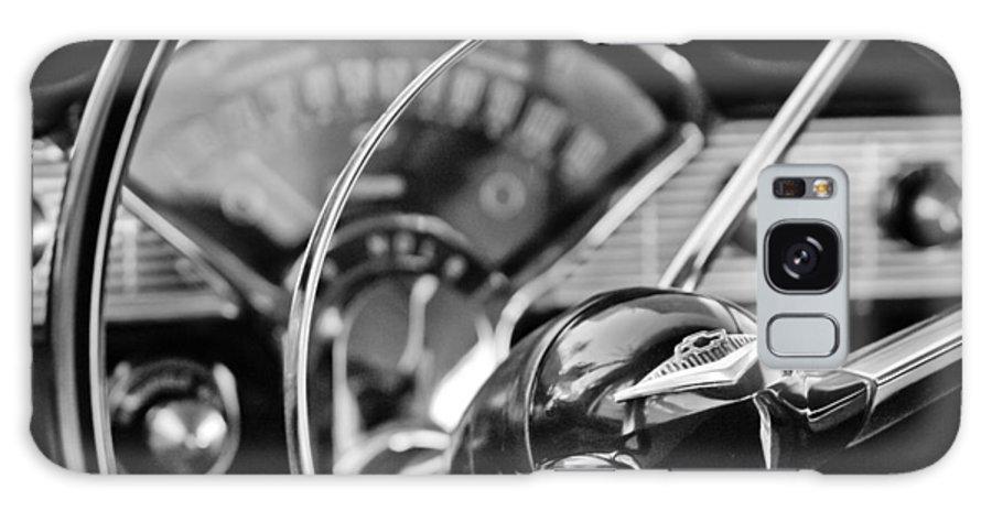 1956 Chevrolet Belair Steering Wheel Galaxy S8 Case featuring the photograph 1956 Chevrolet Belair Steering Wheel by Jill Reger