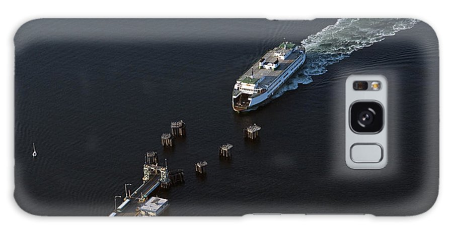 North America Galaxy S8 Case featuring the photograph Aerial View Of Passenger Ferry Boat Going To Southworth Puget So by Jim Corwin