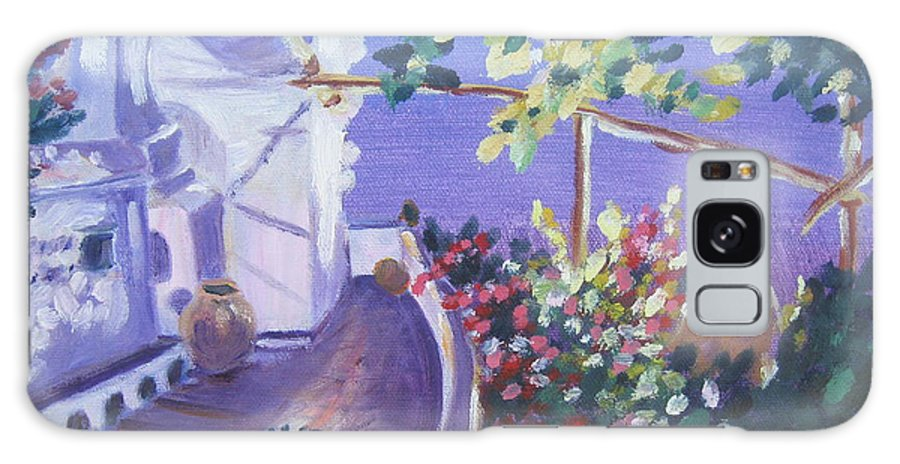 Galaxy S8 Case featuring the painting Amalfi Evening by Julie Todd-Cundiff