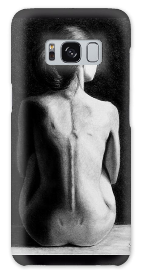 Joseph Ogle Galaxy Case featuring the drawing Ana in waiting by Joseph Ogle