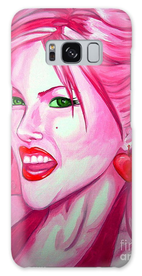 Anna Nicole Galaxy Case featuring the painting Anna by Holly Picano