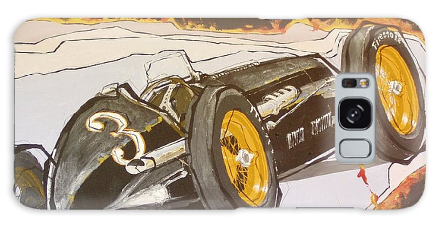 Automobile Racing Galaxy S8 Case featuring the painting Automobile Racing by Paul Guyer