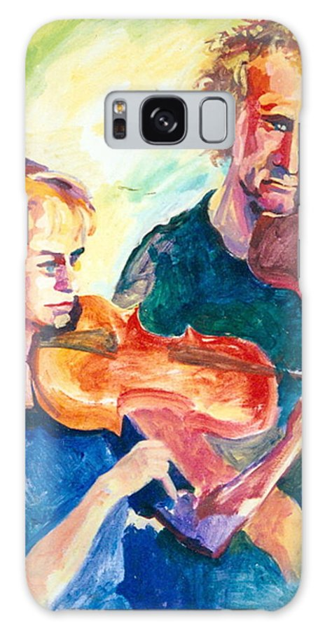 Active Galaxy S8 Case featuring the painting B02. Duet Players by Les Melton