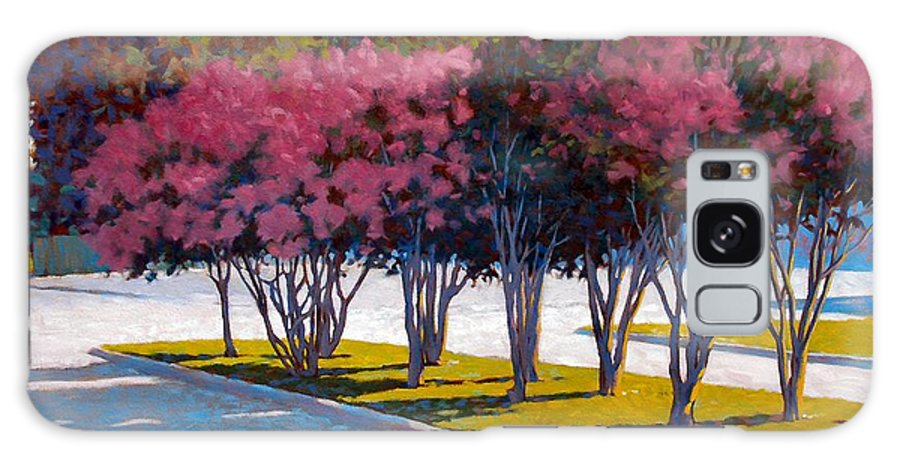 Crepe Myrtles Galaxy Case featuring the painting Balanced Account by Kevin Lawrence Leveque