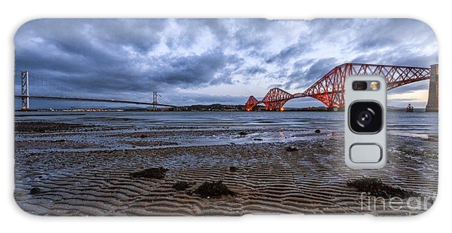 Bridge Rail Galaxy S8 Case featuring the photograph Both Forth Bridges by John Farnan